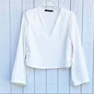 Zara | Side Lace Bell Sleeve Blouse